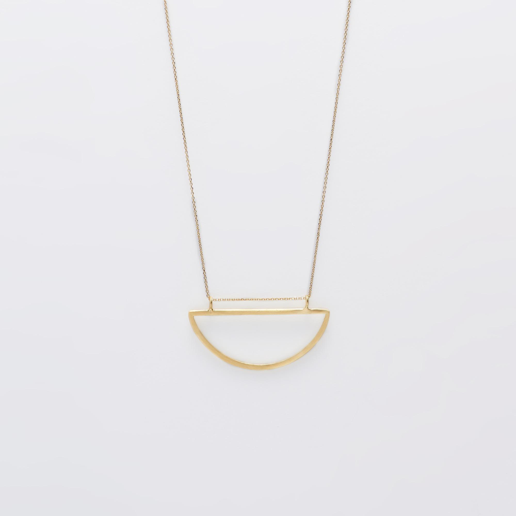 200-45 Double circle necklace κολιέ ασημένιο-χρυσό