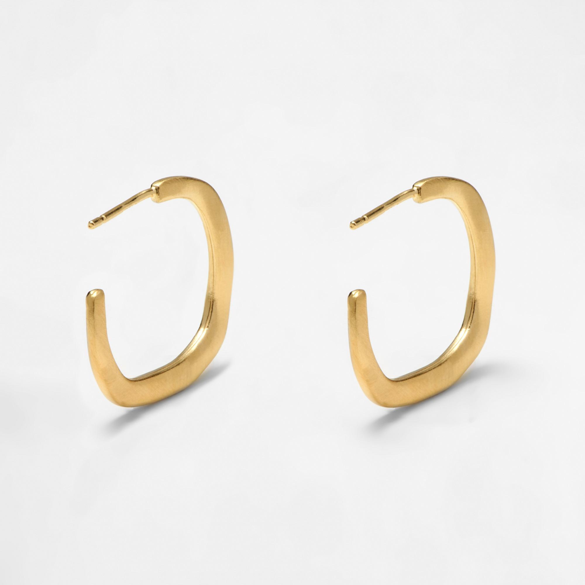 100-17 Square hoops σκουλαρίκια χρυσά