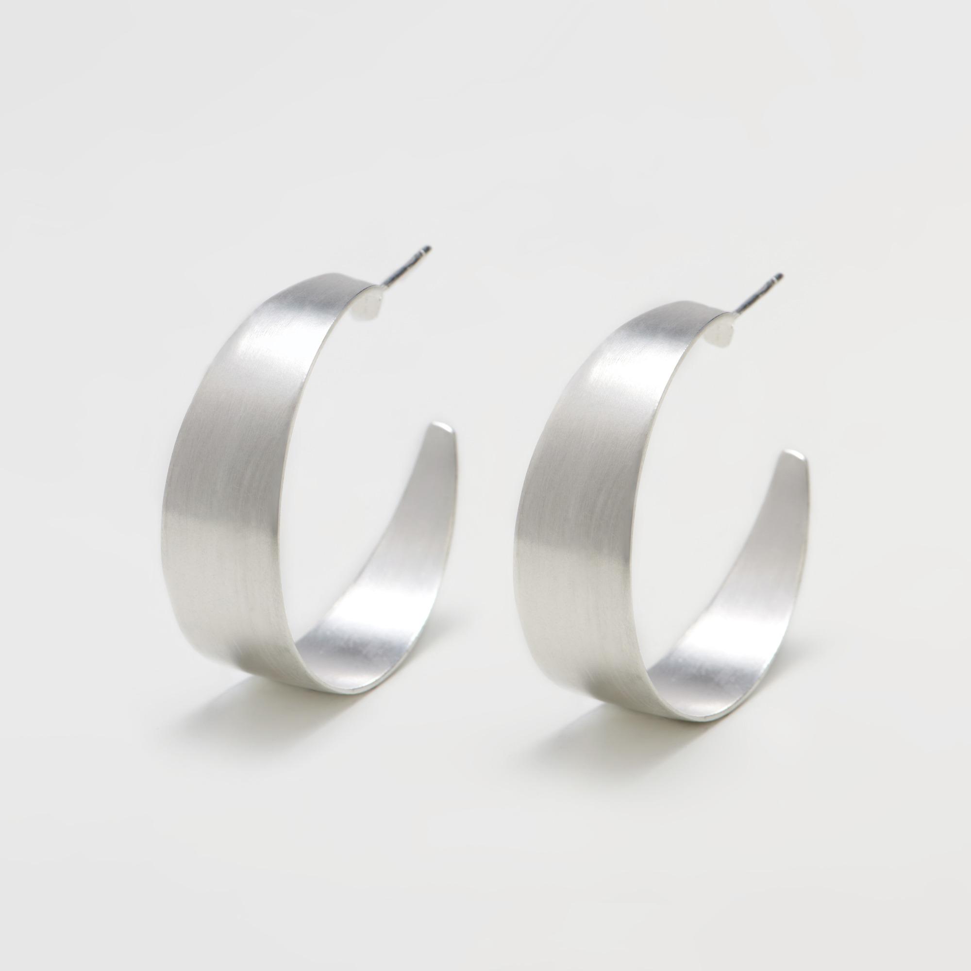 100-08 Imany hoops σκουλαρίκια ασημένια