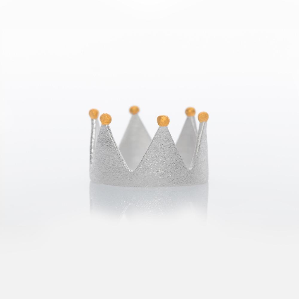 R11001 Κορώνα δαχτυλίδι ασημί N50
