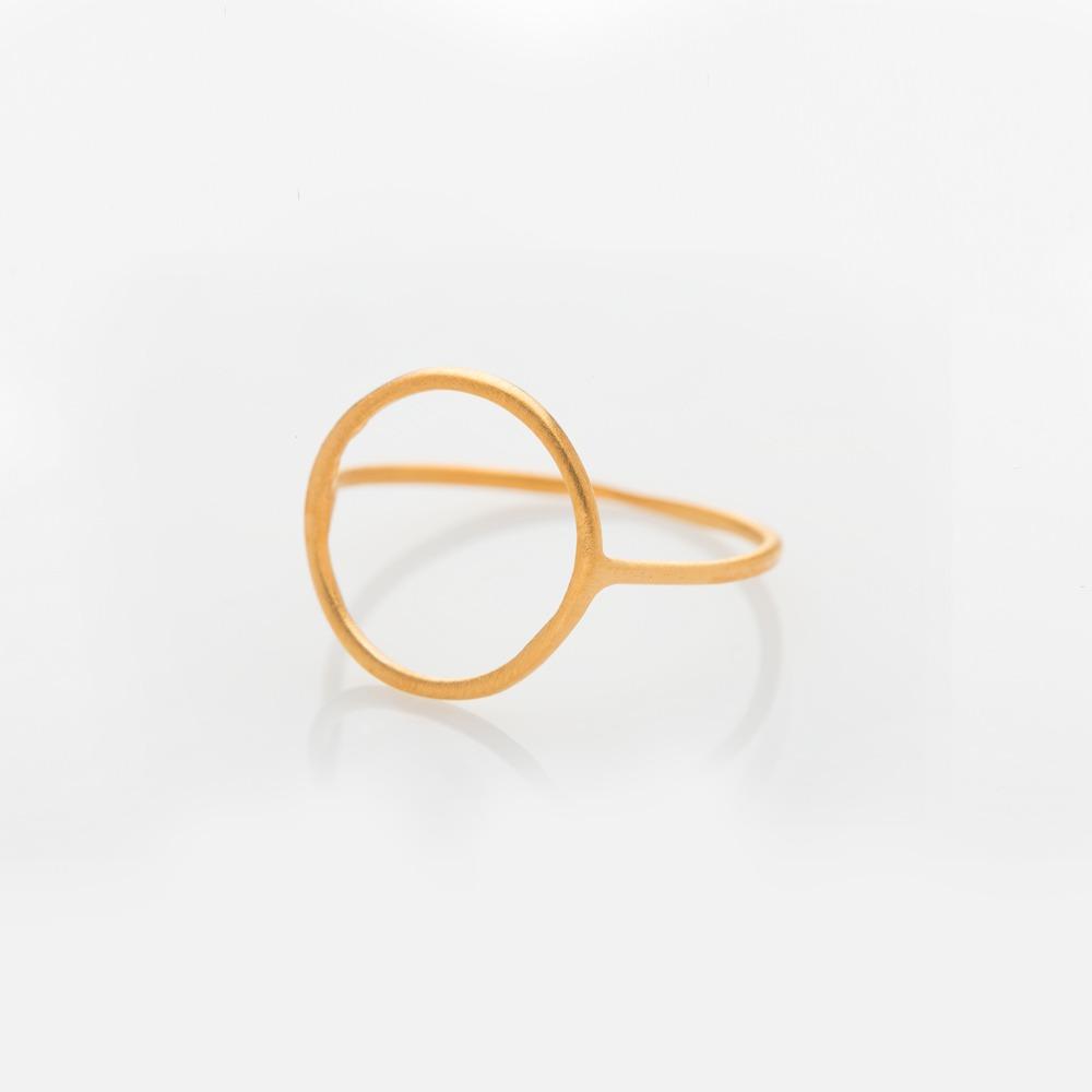 R110122 Wire Τρίγωνο δαχτυλίδι ασημί N55