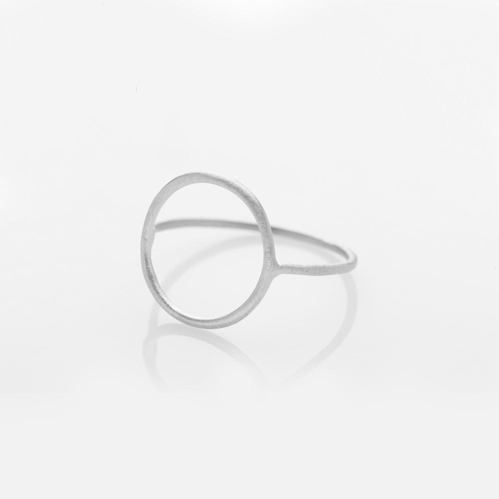R11011 Wire κύκλος δαχτυλίδι ασημί N57