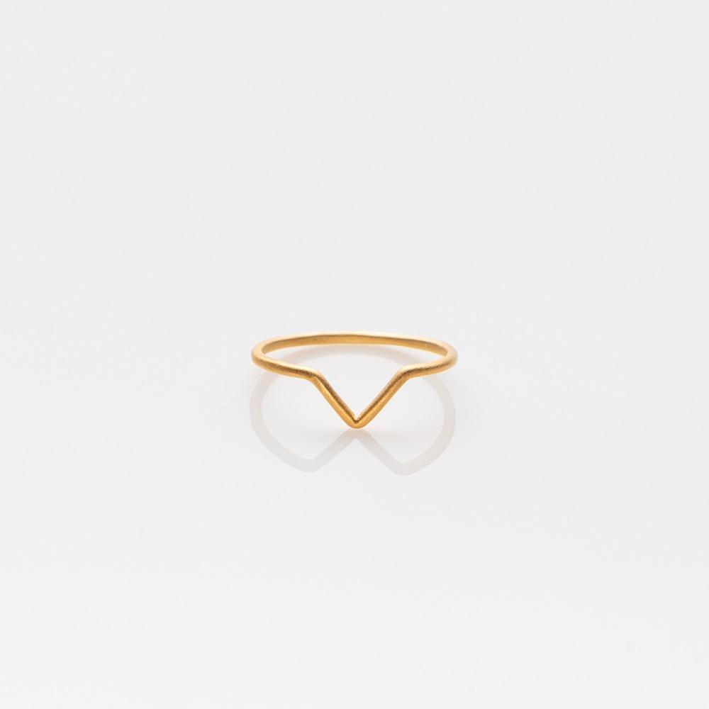 R19029 V δαχτυλίδι χρυσό Ν58