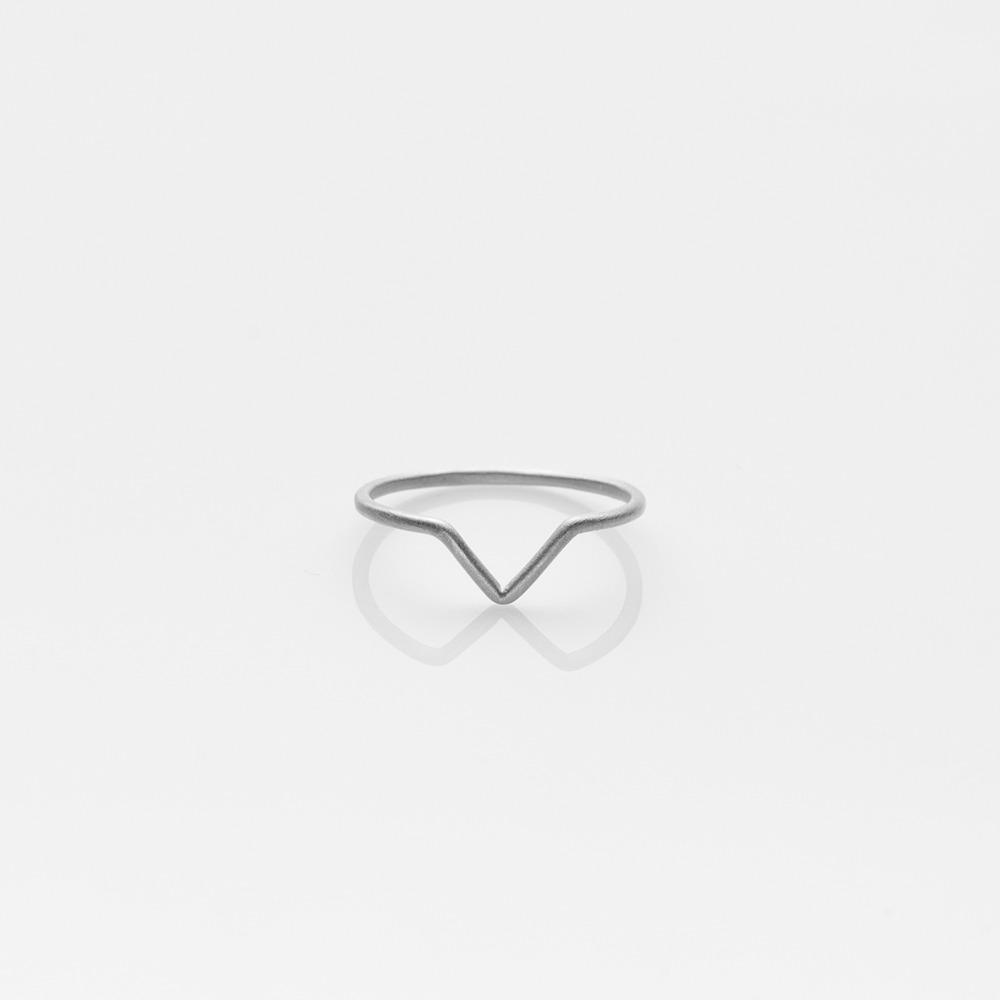 R19028 V δαχτυλίδι ασημί Ν55