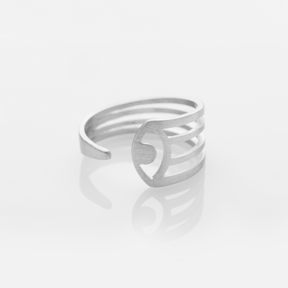 R15002 Aye chevalier δαχτυλίδι ασημί