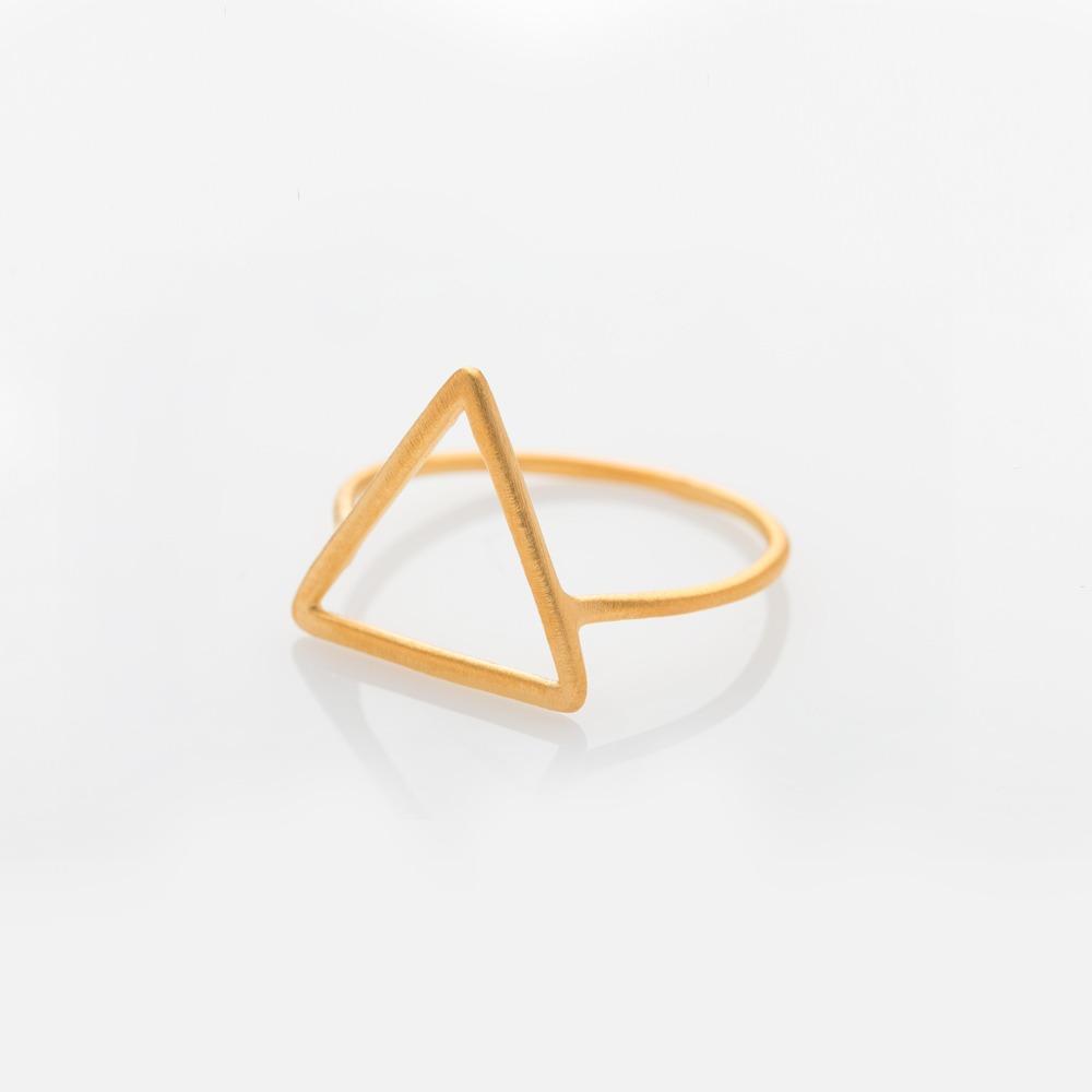 R110172 Wire Τρίγωνο δαχτυλίδι χρυσό N57