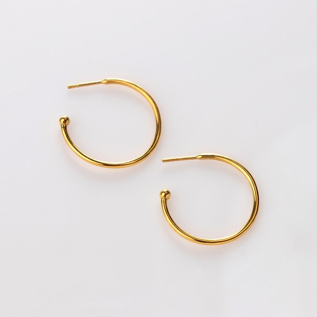 E20012 Charming Hoops L σκουλαρίκια γυαλιστερά χρυσό