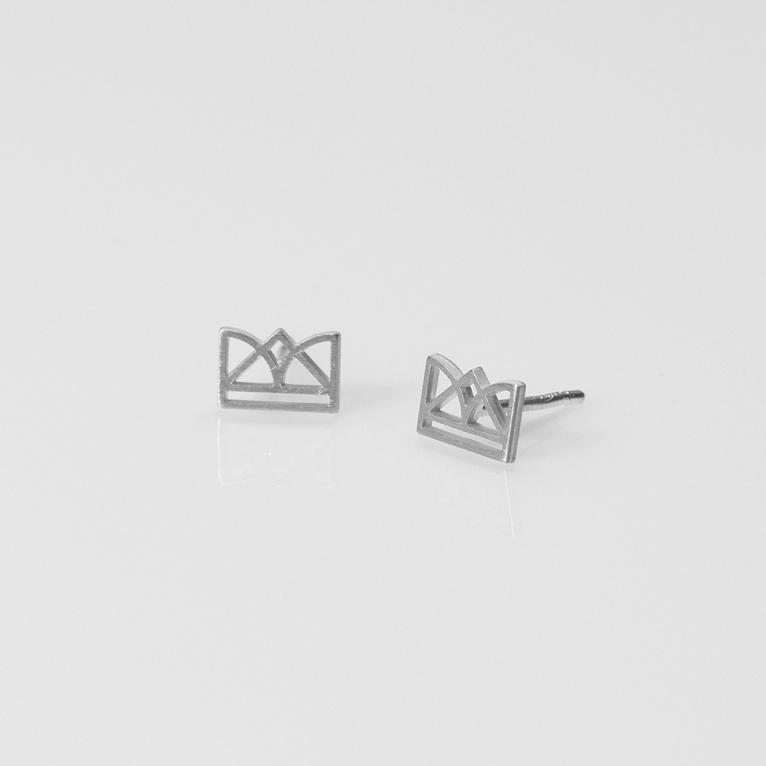 E20022 New Era σκουλαρίκια ασημί