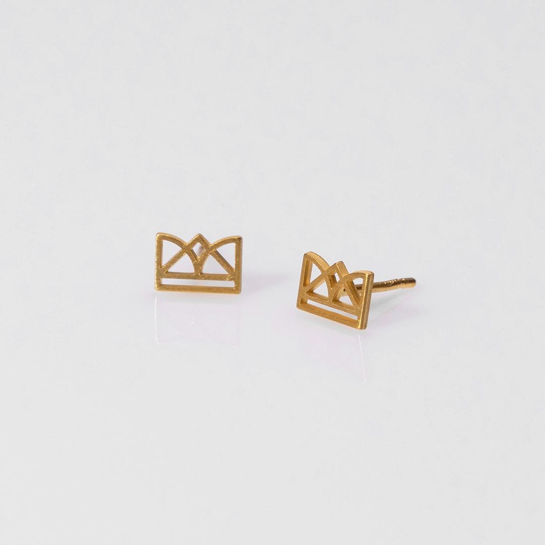 E20023 New Era σκουλαρίκια χρυσό