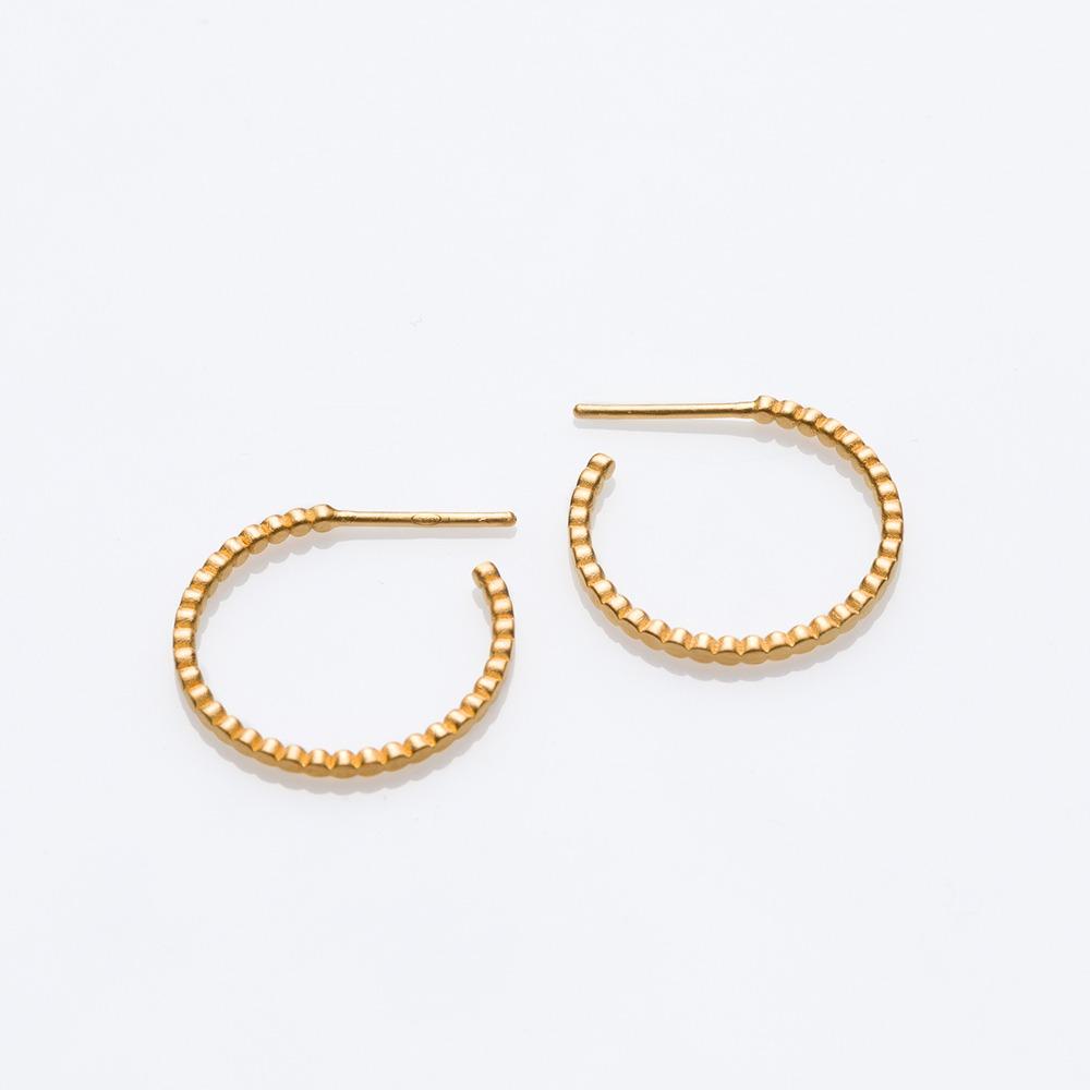 E18012 Blob σκουλαρίκια χρυσό