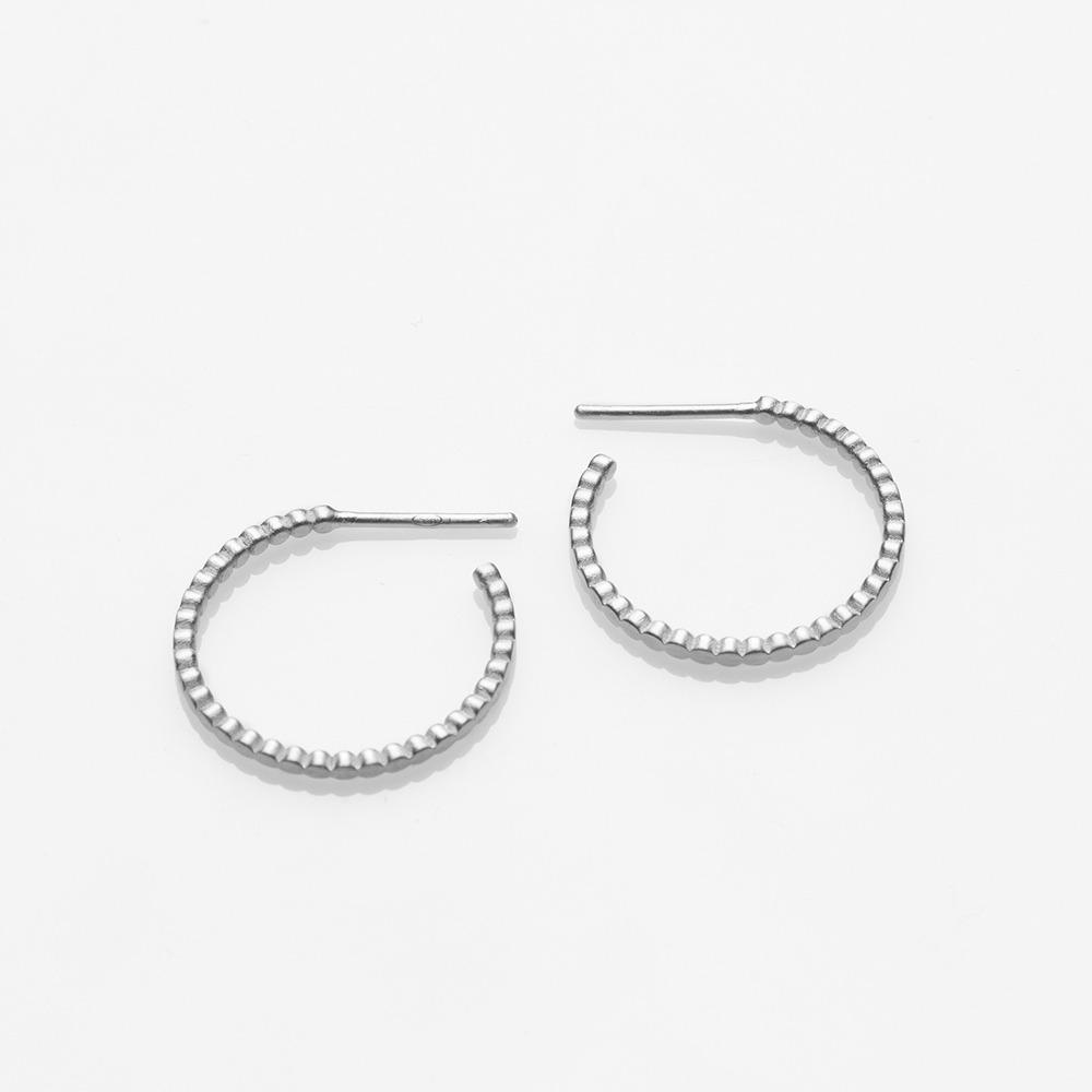 E18011 Blob σκουλαρίκια ασημί